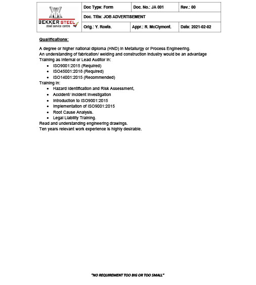 QUALITY ASSURANCE MANAGER - Cover Image 3